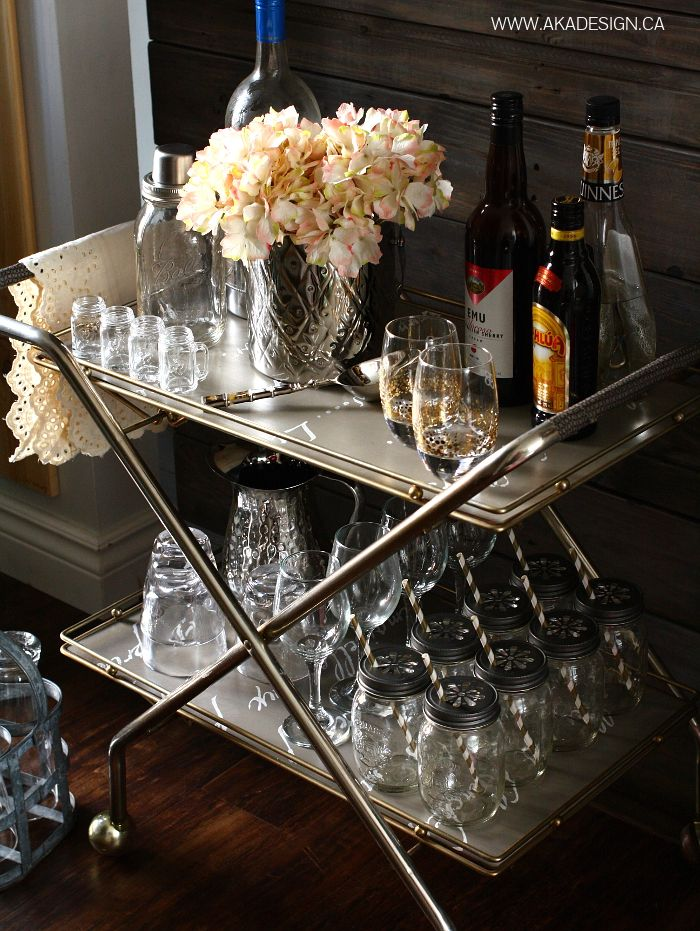 THRIFTED BAR CART Thrift Store Bar Cart | Trash to Treasure