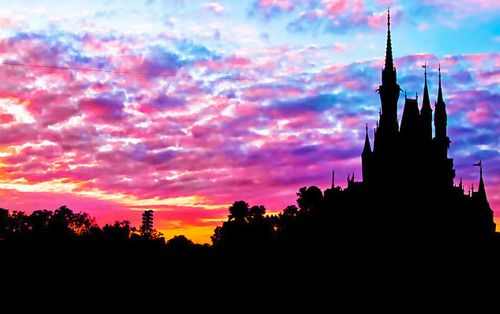 Sunrise over the Magic Kingdom at @Walt Disney World.