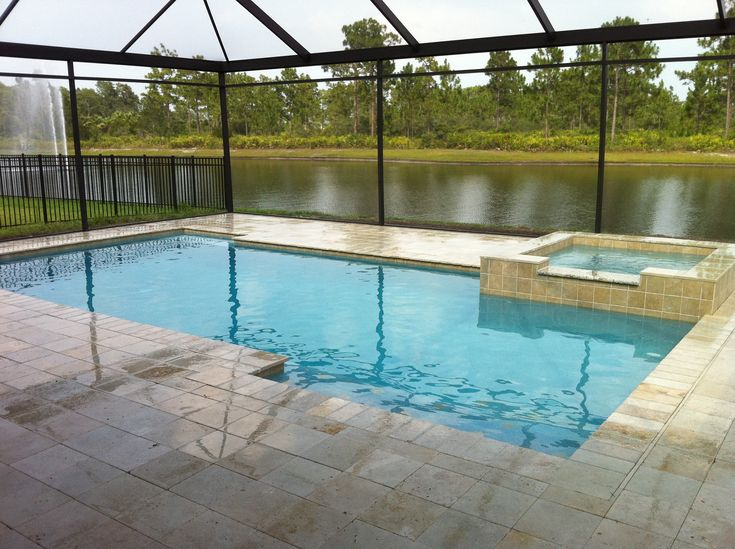 Rectangular Pool Designs With Spa 49 best pools, spas and spools images on pinterest | small pools