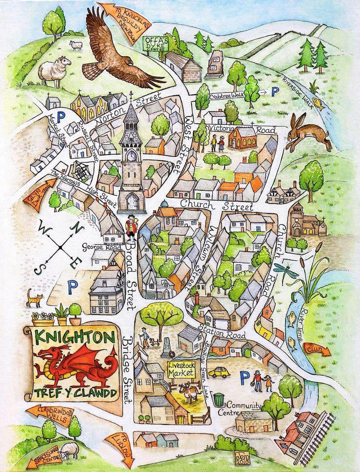 Knighton Map & Hare Cards jpg