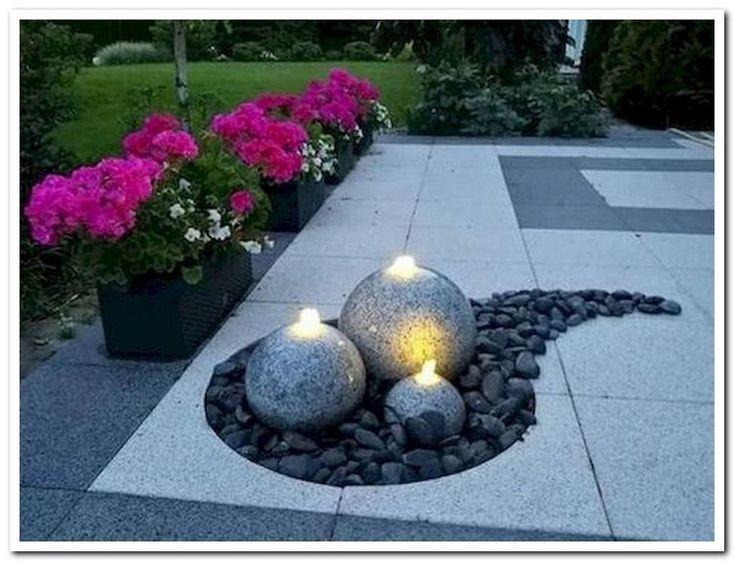 24 belles idées de conception de jardin de jardin de gravier de cour et d'a…