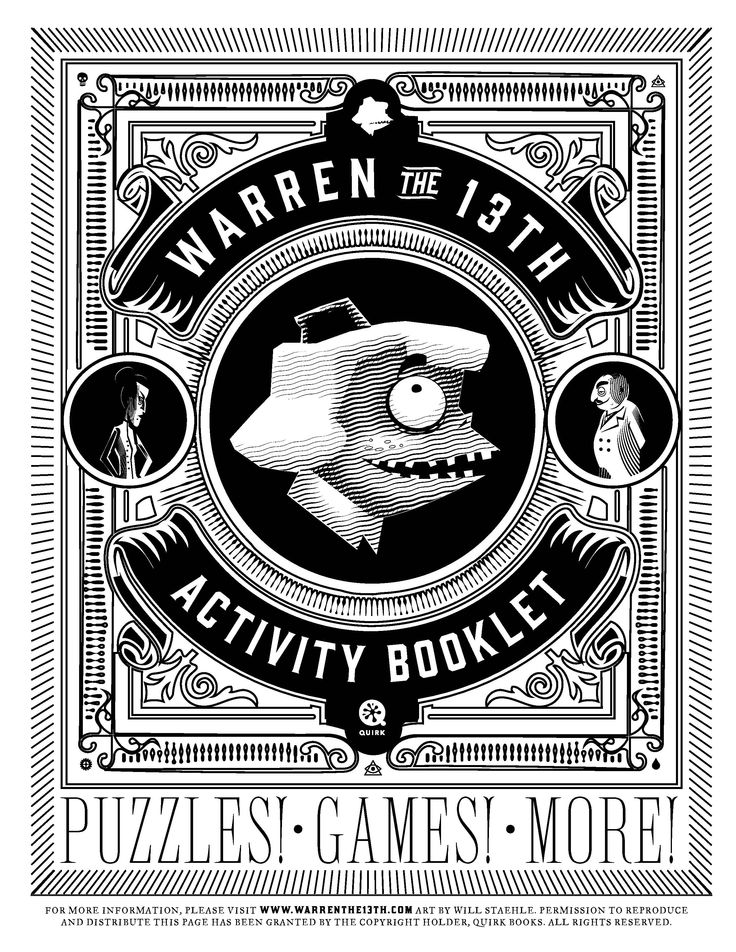 Warren the 13th and The All-Seeing Eye Activity Booklet #maze #puzzles #books #education