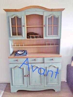 Ananas & Noix de Coco: Rénovation d'un vieux vaisselier en superbe meuble...