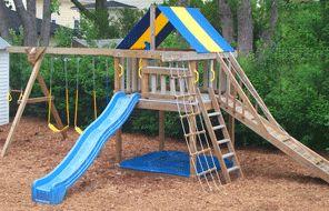 Best 25 wooden swings ideas on pinterest wooden swing for Wooden jungle gym plans