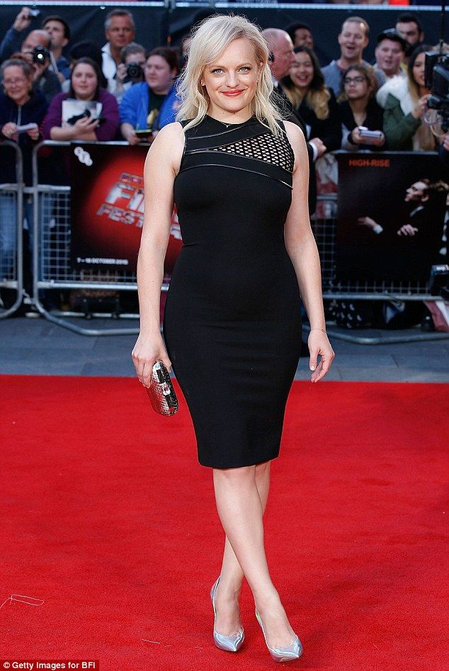 Stunner:Elisabeth Moss ramped up the sex appeal at the High-Rise premiere in London on Fr...