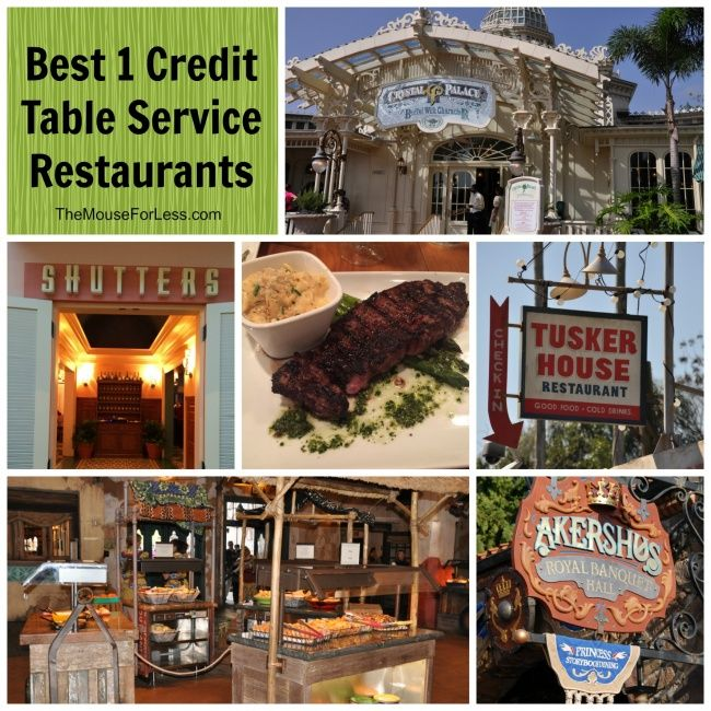 Where to go for the Best Value One Table Service Credit Restaurants based on location and cuisine. Get the most out of the Disney Dining Plan.