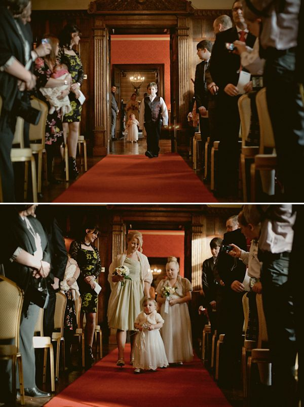 Ceremony shot - down the aisle