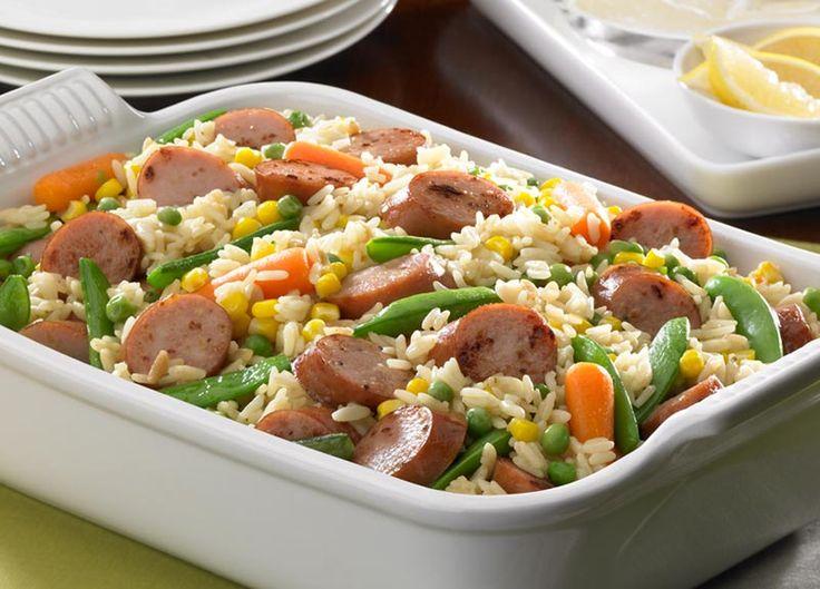 Kolbászos, zöldséges rizs a sütőből – ínycsiklandó és laktató étel pikk-pakk!