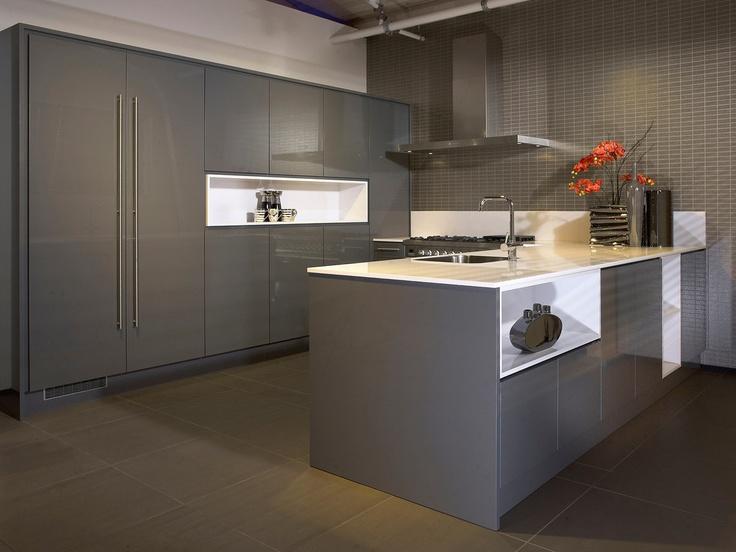 18 best grijze keukens images on pinterest - Kleur verf moderne keuken ...