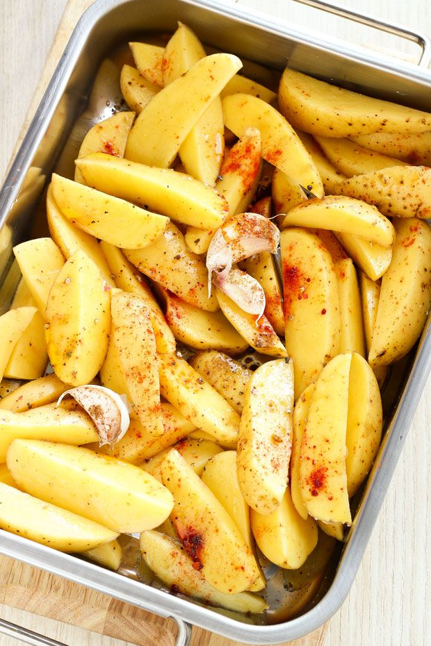 Potato wedges make a fantastic side dish that goes with almost everything from grilled poultry and meat to fish and seafood. Much simpler to make than fries and involving less fat, this garlicky an...