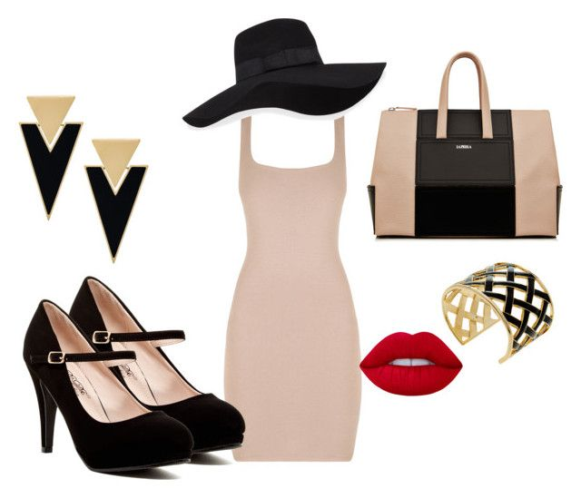 """""""Untitled #10"""" by terka-zelenkova on Polyvore featuring Yves Saint Laurent, San Diego Hat Co., Kenneth Jay Lane and Lime Crime"""
