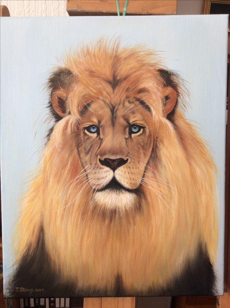 The Blue eyed Lion .oils on canvas.