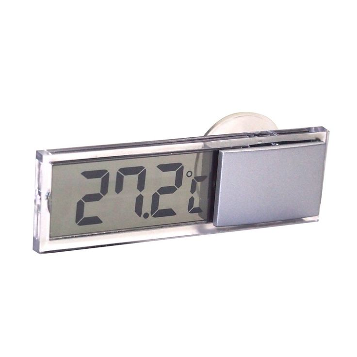 Generic Mini LCD Digital Car Thermometer with Suction Cup