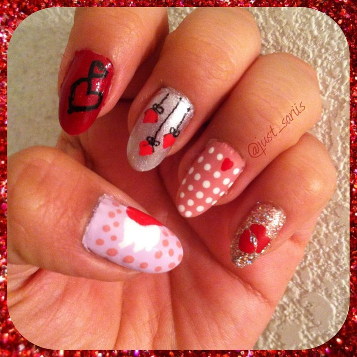 valentine's day nails 2014