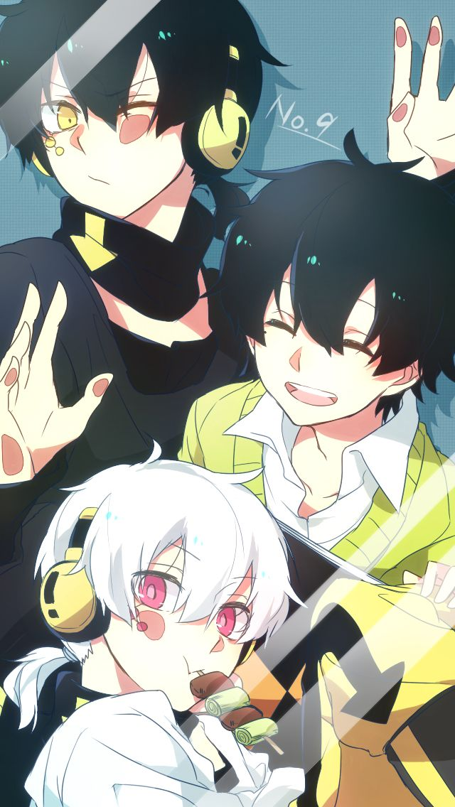 I just watched all of Kagerou Project. OH M GOODNESS IT IS SO INTERESTING. And Outer Science has a whole new meaning to me now that I've watched all the rest of it... //Sniff// DARN YOU KUROHA. ...Okay, Kuroha. I forgive you. You're totally adorable in this picture. ...And so are... well... you... and... you. Interesting. -- Kuroha, Haruka, and Konoha [Kagerou Project]