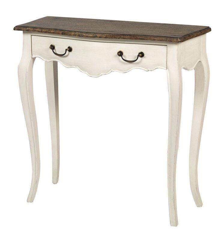 Gordes spisebord   flot spisebord i poppeltræ med hvide ben og ...