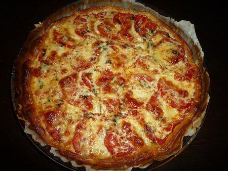 Tarte à la tomate, mozzarella et moutarde