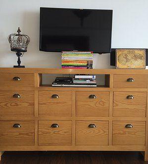 #Consola, madera pinotea americana con laqueado opaco Largo: 1,50cm Alto: 0,90cm Prof: 0,25cm