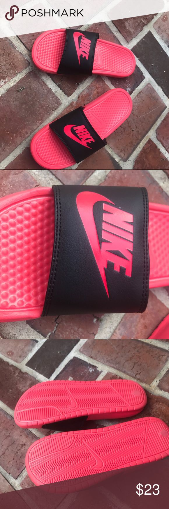 Hot Pink Nike Slides Hot Pink Nike Slides, never worn, in great condition size 8.5 Nike Shoes Slippers