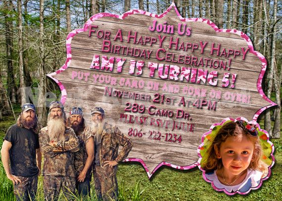 Duck dynasty party invitations invitationscriative duck dynasty birthday party invitations image collections filmwisefo