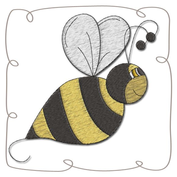 Bumble Bee Machine Embroidery Design Pattern-INSTANT DOWNLOAD