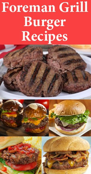 Your George Foreman Grill is PERFECT for making burger recipes. Try some of these awesome burgers tonight!