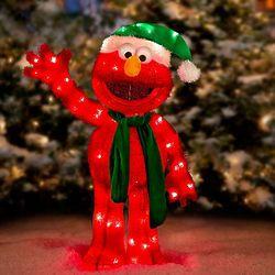 Pre-Lit Sesame Street Elmo Christmas Decor