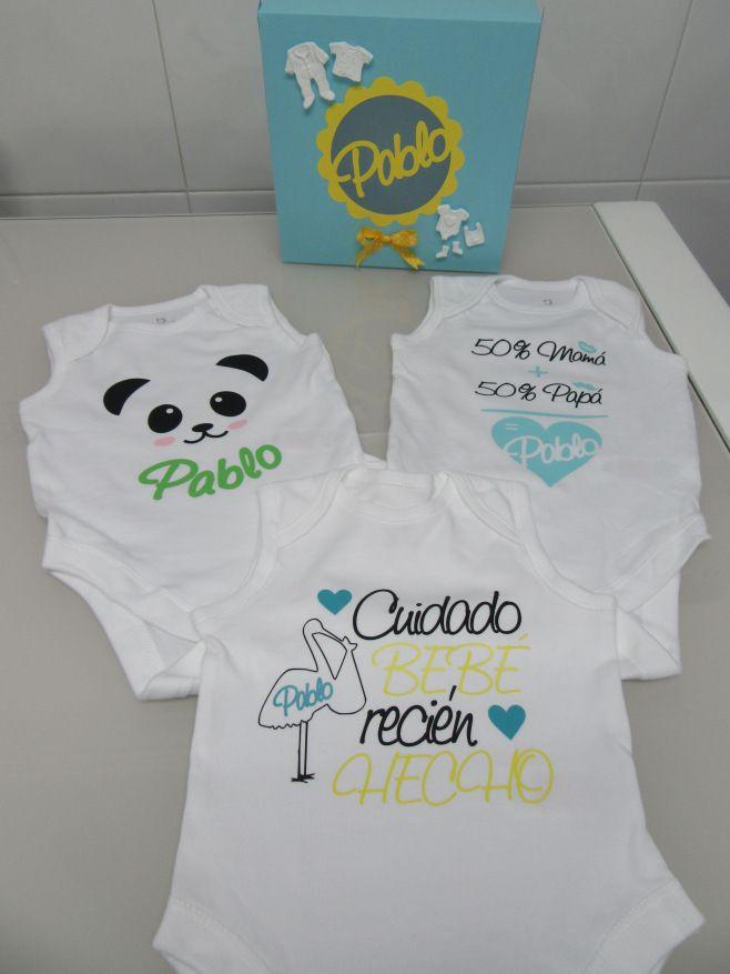 Bodys bebé personalizados con vinilo + video caja