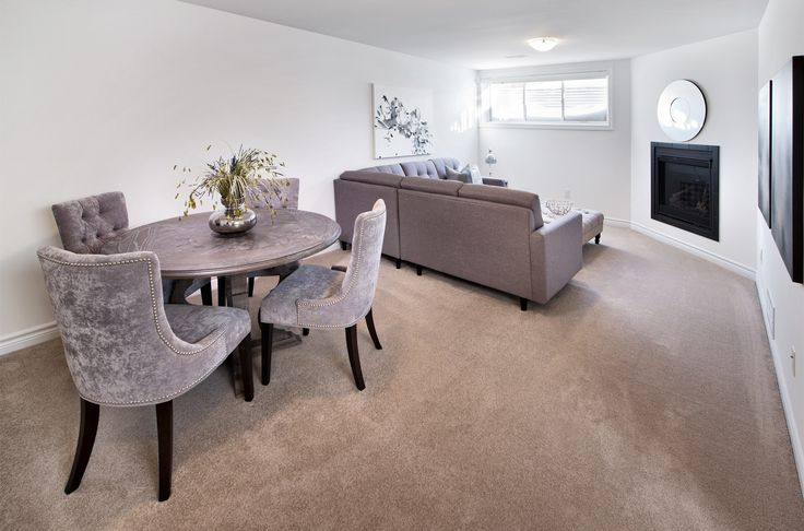 This is the Diamond townhome basement.  Finished basements are included in all Tartan townhomes.