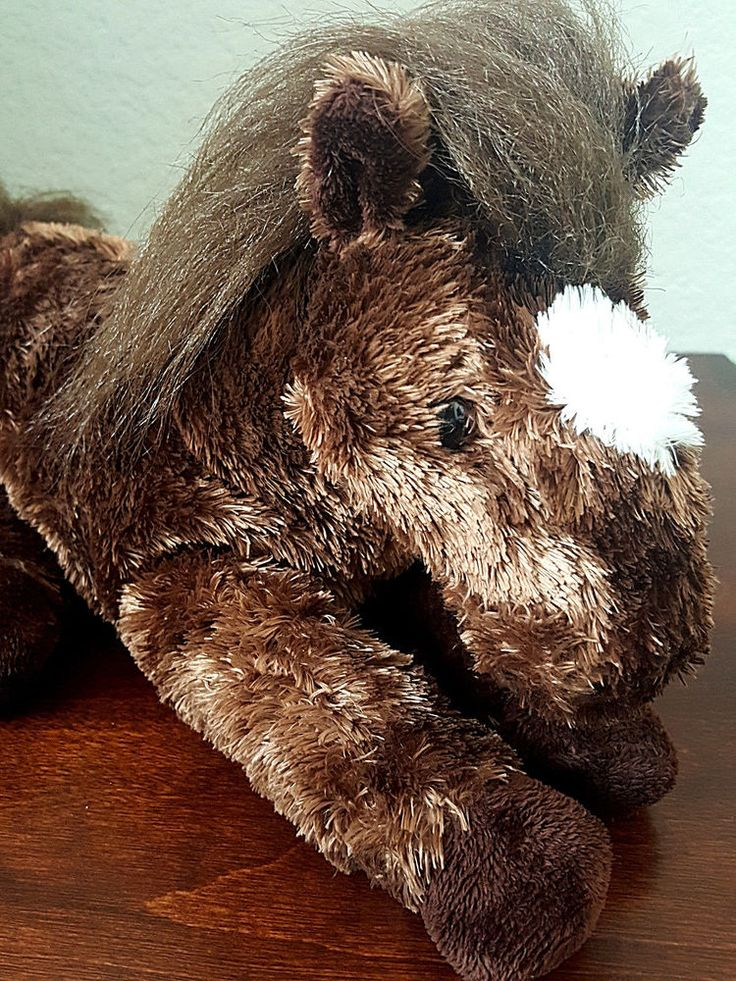 "Aurora Plush Horse Chocolate Brown Floppy Legs Stuffed Pony Animal 16"" #Aurora #Horse #Pony"
