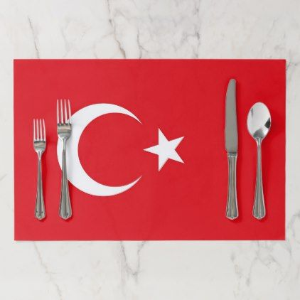 Tearaway placemat with Flag of Turkey  $19.95  by AllFlags  - cyo customize personalize unique diy idea