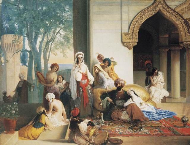 Francesco Hayez - Interno di un harem turco (1842)