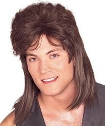 Private Island Party  - Brown Mullet Wig 6041, $3.30 - $5.99    Can't grow your own mullet? Never fear! This brown mullet wig will bring the business to the front and the party to the back in no time! Made from 100% synthetic with elastic netting, one size fits most.    When wearing wigs, don't forget to buy a wig cap.