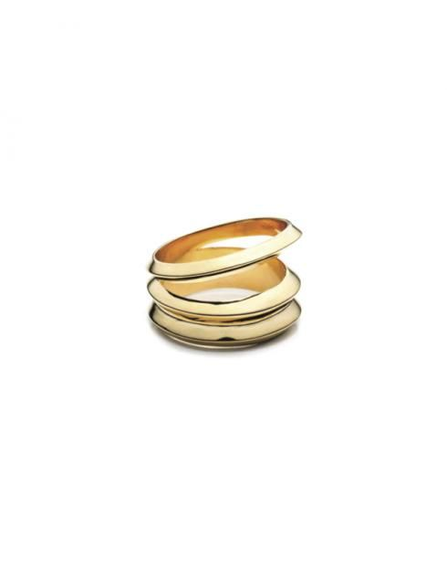 THREE ROW RING -  Order Now -  by Kristin & Kofi Essel  Solid cast Bronze metal with 18K Gold plating or Silver plating. Made in America #thirdcrown #jewelrydesign #madeinnyc #goldring