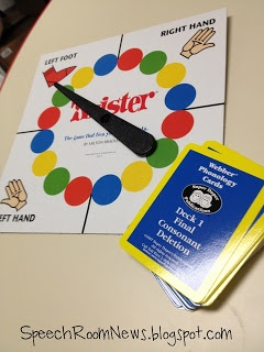 Twister for artic/phonology students!  from Speech Room News