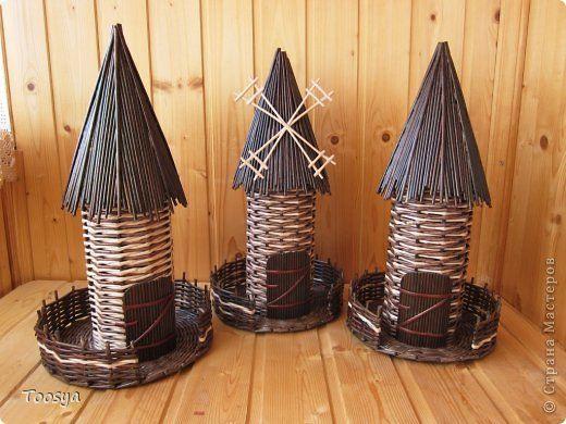 Мастер-класс Поделка изделие Плетение Крыша для мельницы? Легко Бумага газетная Трубочки бумажные фото 1