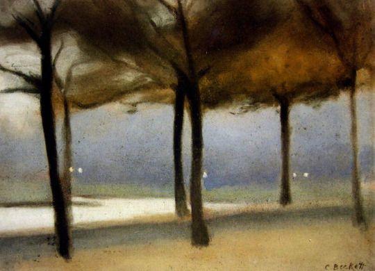 Evening on the Yarra from Alexandra Avenue -  Clarice Beckett c.1900  Australian painter 1887-1935