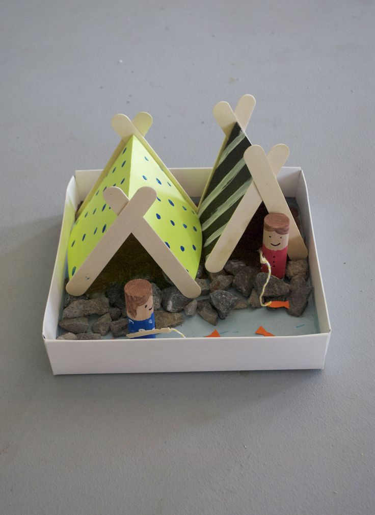 tent craft...fun to do with the kid's while camping...