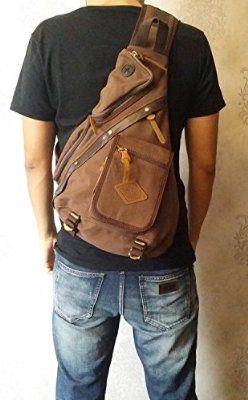 Valuker 8171 Herren Damen Rucksack Reisetasche Backpack Schulrucksack Stofftasche Vintage Ledertasche Umhängetasche 8171