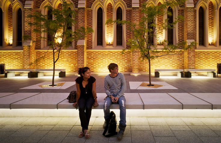 signage :: seating :: bench :: planter :: lighting :: Wesley Quarter by Hassell