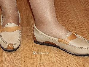 Художественная заплата на обувь
