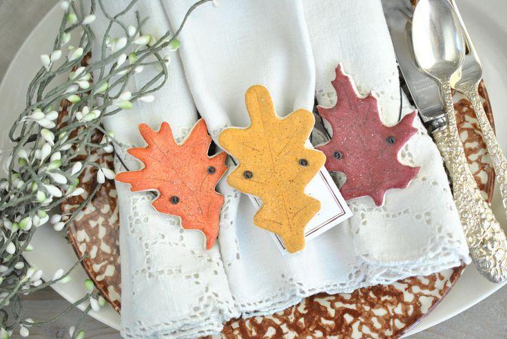 Wholesale Autumn Leaves Wedding Favors Set of 12 Salt Dough Ornaments