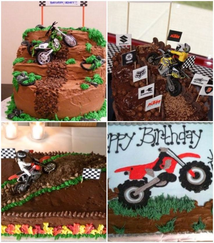 Motorcycle birthday cakes