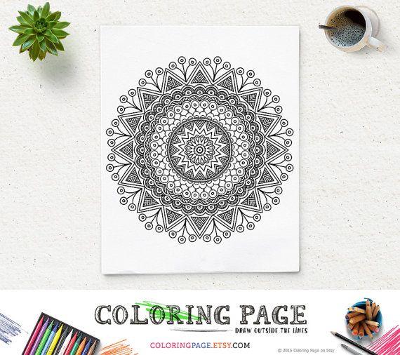 Coloring Page Floral Mandala Printable Pattern by coloringpage