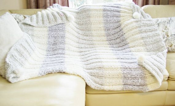 Luxury designer handmade Blanket Throw by 50shadesknittingXO