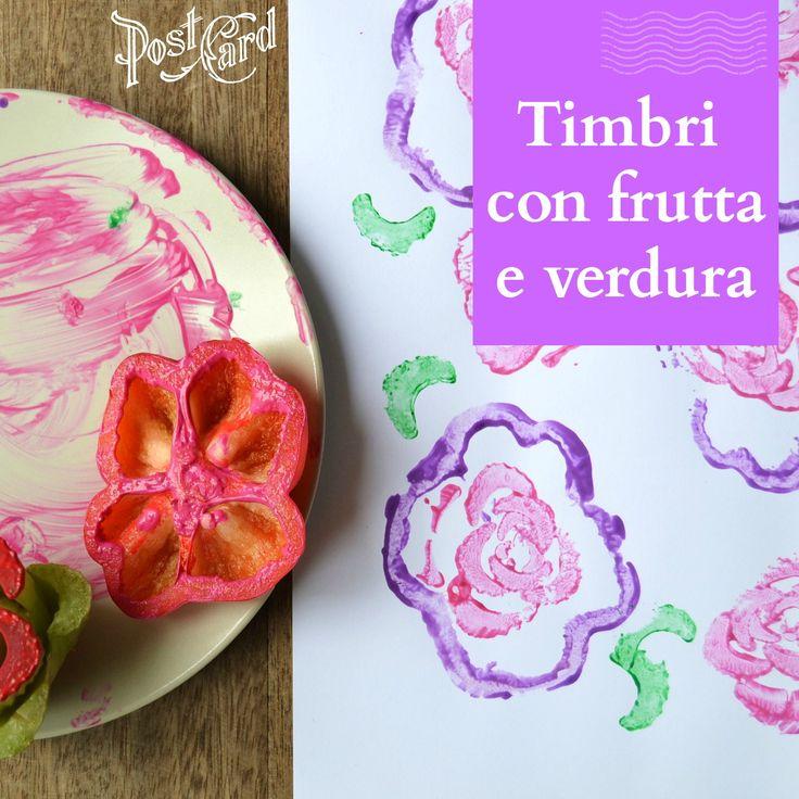 Come creare timbri con frutta e verdura per bambini. Come creare timbri fai da te dagli scarti della frutta e della verdura.