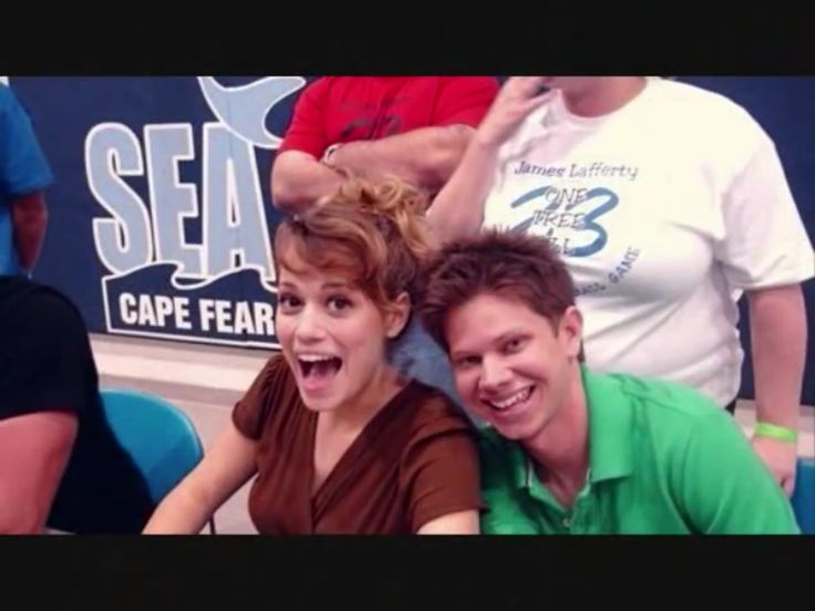 Joy Lenz and Lee norris