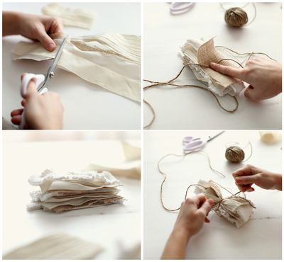 DIY craft tutorial ... shabby chic fabric flower ... gorgeous results ... go to blog to see more ...