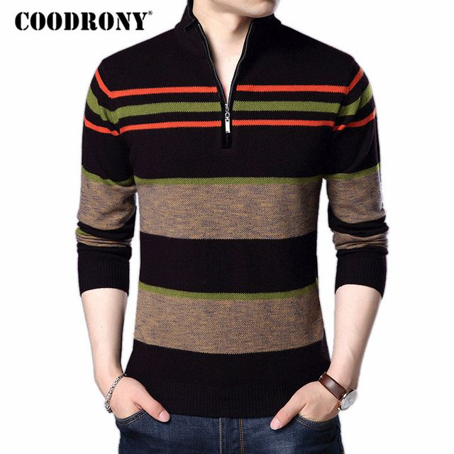 Affordable Price $52.80, Buy COODRONY Christmas Sweater Men 2017 New Winter Thick Warm Turtleneck Pull Homme Cashmere Pullovers Men Merino Wool Sweaters 7311