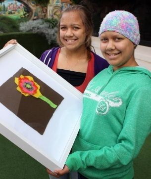The new art of healing at Princess Margaret Hospital: Over three months, the program visited most wards and departments around PMH, as well as students at Shenton Park Family Pathways Program and the  Bentley Adolescent Unit, encouraging children to create artwork from bright, quality yarn and fabrics.